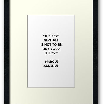 'MARCUS AURELIUS Stoic Philosophy Quote' Framed Print by IdeasForArtists