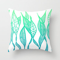 Sway Ombre Throw Pillow by Lisa Argyropoulos | Society6