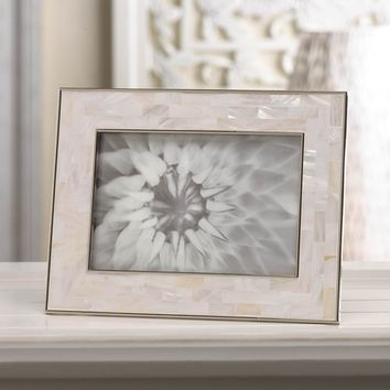 Mother Of Pearl Mosaic Picture Frame