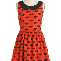 ModCloth Quirky Mid-length Sleeveless A-line First Kiss Dress