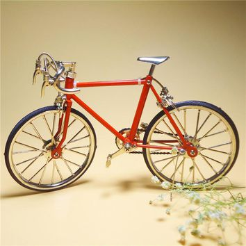 High Quality 19.5x12cm DIY Handicraft Mini Alloy Bicycle ,Can be Accessories for Dollhouse