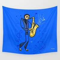 Saxman Wall Tapestry by Giuseppe Lentini