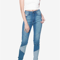 Patch Style Jeans