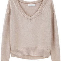 Cacharel /  Rolled Collar Sweater  |   La Garçonne
