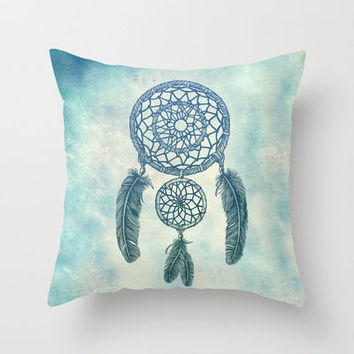 Double Dream Catcher Throw Pillow by Rachel Caldwell | Society6