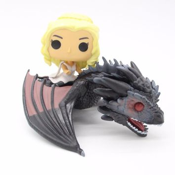 GAME OF THRONES DAENERYS Riding DRAGON 23cm Action Figure Model Toys without Retail Box