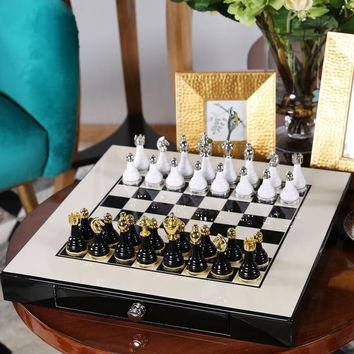Quality Mental-Wooden Chess Set
