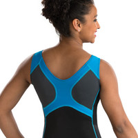 Turquoise GymTek V-Neck Tank Leotard from GK Elite