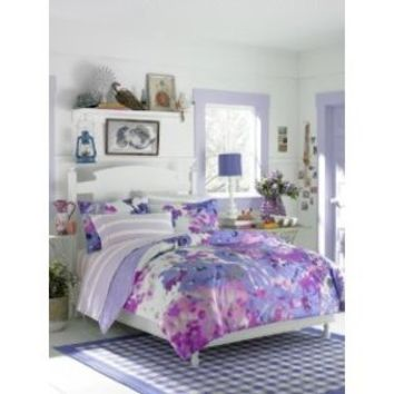Teen Vogue  Teen Vogue Lilac Watercolor Floral Twin Comforter Set