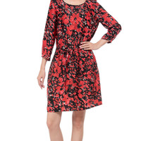 Print Half-sleeve Dress One Piece Dress [4918288644]