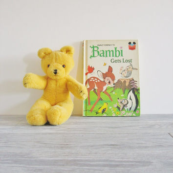 Vintage 1972 Walt Disney Bambi Gets Lost Childrens Book