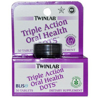 Twinlab Oral Health Dots - Triple Action - 30 Tablets
