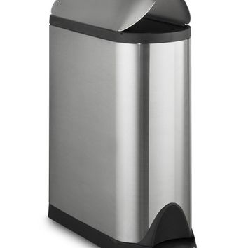 simplehuman™ Stainless-Steel Fingerprint-Proof Butterfly Trash Can