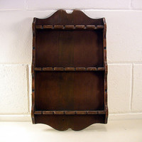 SOLD!  Vintage Primitive Wood Spoon Holder Display Rack