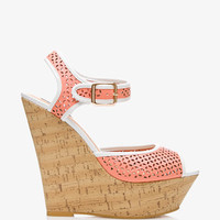 Cutout Cork-Wrapped Wedges   FOREVER 21 - 2034683609