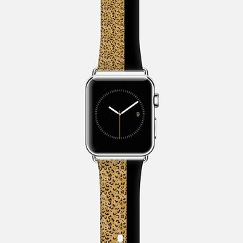 Black and Cheetah Apple Watch Band case by Christy Leigh | Casetify