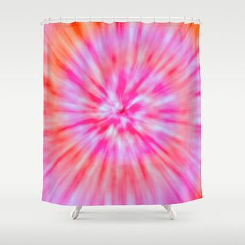 TIE DYE Shower Curtain by Nika