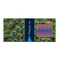 Peacock Wedding Photo Album/Guest Book 3 Ring Binder