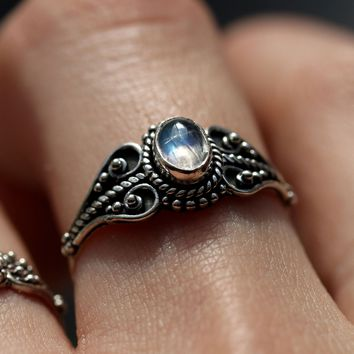 Shop Dixi Boho Ring | Sterling Silver Moonstone Baby Blues Ring
