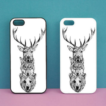 iphone 5 case,Wolf,Bear,Deer,iphone 5S case,iphone 5C case,iphone 4 case,ipod 4 case,ipod 5 case,ipod case,Blackberry Z10 case,Q10 case