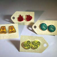 Avatar: The Last Airbender Four Nations Earrings