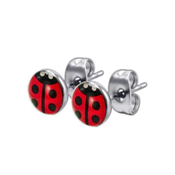 Tiny Ladybug 316 Stud Earrings
