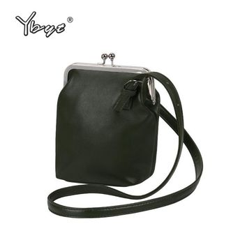 YBYT brand 2017 new vintage casual PU leather bucket bags hotsale ladies cell phone evening bag shoulder messenger crossbody bag