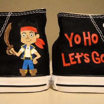 Jake and the Neverland Pirates - Hand Painted Chuck Taylor Converse Shoes - Infant/Tod