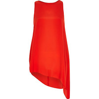 River Island Womens Red asymmetrical hem tunic