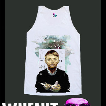worldwide shipping just 7 days Thom Yorke Radiohead shirt singlet tank top 10179