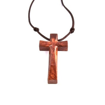 Wooden Cross Pendant, Hand Carved Cross, Wooden Cross Necklace, Handmade Wood Cross, Wooden Pendant, Carved Cross Pendant, Wood Jewelry