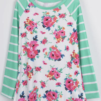 Cupshe Little Blooms Floral Stripe Top