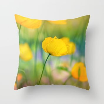 Awaken Spring Throw Pillow by Kristopher Winter