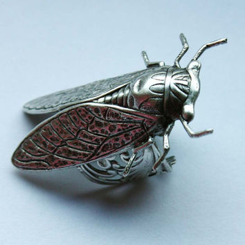 SALE PRICE Cicada Bug Sterling Silver Adjustable unisex ring
