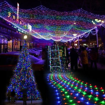 new 300 l net mesh fairy lights lighting christmas wedding party colorful 7_s color