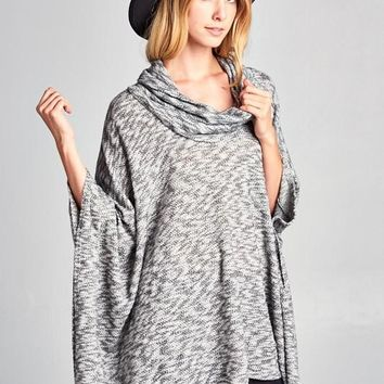 Cowl Neck Poncho Top