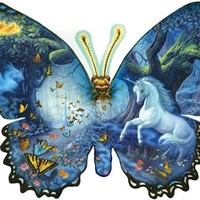 Fantasy Butterfly 1000pc Shaped Jigsaw Puzzle