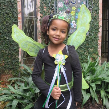 Tinkerbell Fairy Wings - Green Wings - Fairy Party - Tinkerbell Wings - Fairy Princess - Fairy Costume - Toddler Fairy Wings - Adult Wings