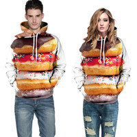 EAST KNITTING F1392  Hot Selling Good 3D  pullovers Broadcloth Made With Food Print Harajuku Hoodies