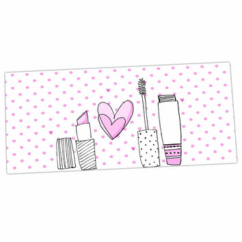 "MaJoBV ""Girls Luv"" Pink Makeup Desk Mat"