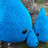 Large Drizzle the Droplet plush toy, stuffed raindrop toy, water droplet toy, raindrop plush toy, stuffed animal, made to order