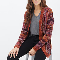 LOVE 21 Multi-Tone Striped Knit Cardigan