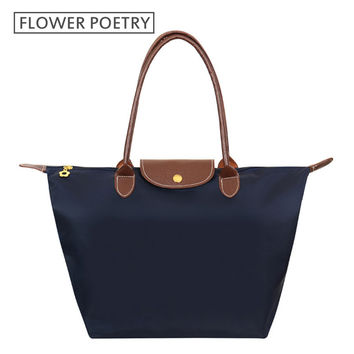 Fashion Women Bags Folding Shoulder Waterproof Handbags Dumplings  Female Travel Tote Folding Bag Tote Paris Bag