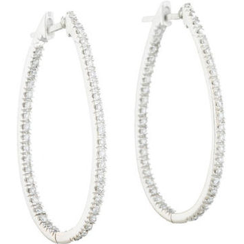 1.25ctw Inside Out Diamond Hoops
