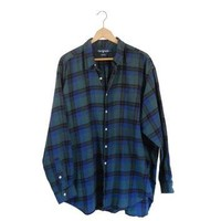 2XL Ralph Lauren Flannel Flannel Shirt Green Flannel Men Flannel Shirt Blue Flannel Pl