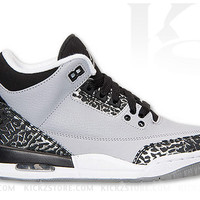Air Jordan Big Kid's GS Retro 3 III Wolf Grey