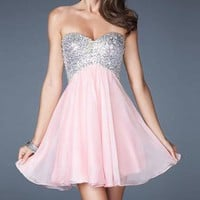 Cheap Short Pink Tailor Made Cocktail Prom Dress (LFNAG0079) cheap online-MarieProm UK