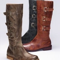Jade Three-buckle Suede Boot