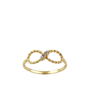 Twisted Infinity  14k Solid Gold Ring Best Price