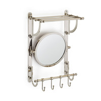 Go Home Railway Towel And Mirror Rack - 17077